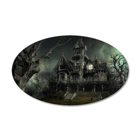 haunted_house_big 35x21 Oval Wall Decal