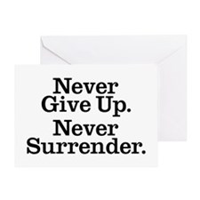 never_give_up Greeting Card