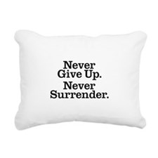 never_give_up_3 Rectangular Canvas Pillow