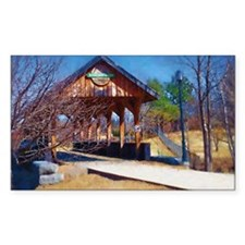covered bridge in Killaloe Decal
