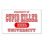 Cupid Killer University Rectangle Sticker