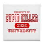 Cupid Killer University Tile Coaster