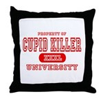 Cupid Killer University Throw Pillow