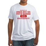 Cupid Killer University Fitted T-Shirt