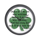 Irish Proverb Wall Clock