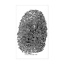 fingerprint_BW Bumper Stickers