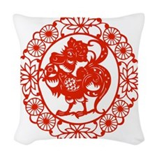 RoosterR1 Woven Throw Pillow