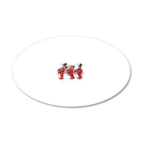 Lobsters 20x12 Oval Wall Decal