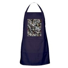 Dead Writers Collage Apron (dark)