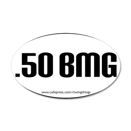 50BMG oval sticker PATHS.eps 35x21 Oval Wall Decal