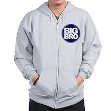 circle big bro blue Zip Hoodie