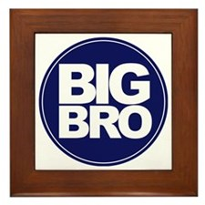 circle big bro blue Framed Tile