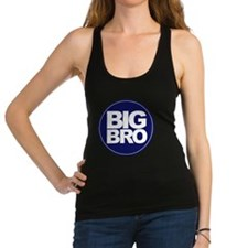 circle big bro blue Racerback Tank Top