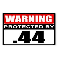 Warning .44 Decal