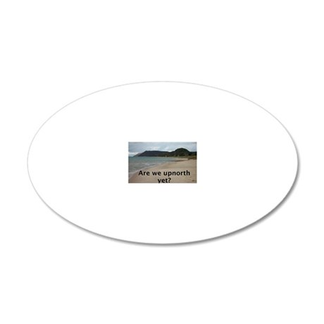 upnorth 20x12 Oval Wall Decal