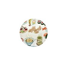 Kawaii Sushi Ban Cafe Mini Button
