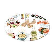 Kawaii Sushi Ban Cafe Wall Decal