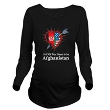 Half Heart Afghanistan Long Sleeve Maternity T-Shi