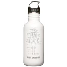 grey Stainless Water Bottle 1.0L