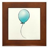 Turquoise Balloon Framed Tile