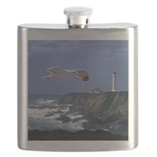 (15s) lighthouse & seagull Flask
