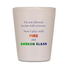 Fire and Broken glass 12 Shot Glass