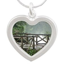 Tranquil Bridge Silver Heart Necklace