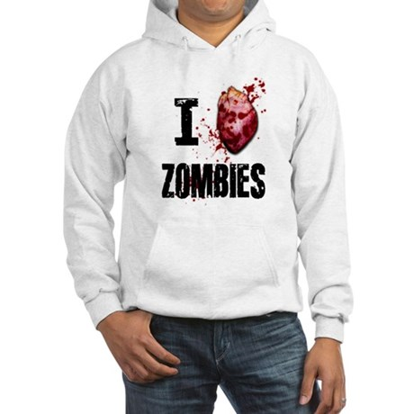 I LOVE ZOMBIES Hooded Sweatshirt
