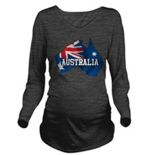 Map Of Australia Long Sleeve Maternity T-Shirt