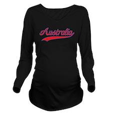 Retro Australia Long Sleeve Maternity T-Shirt