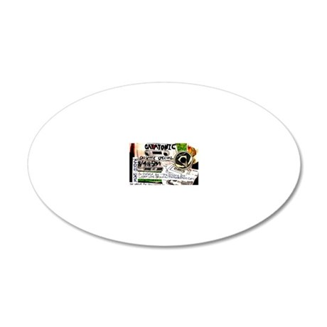 catatonic cassette tape show 20x12 Oval Wall Decal