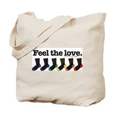 "Knitting Mafia's ""Feel the love."" Tote Bag"