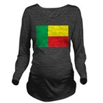 Benin Flag Long Sleeve Maternity T-Shirt