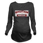 Bhutan Native Long Sleeve Maternity T-Shirt