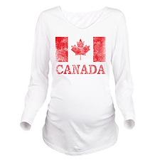 Vintage Canada Long Sleeve Maternity T-Shirt