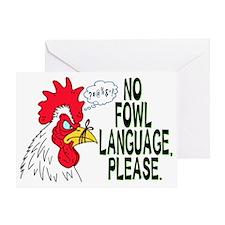 Fowl Language 1 Greeting Card