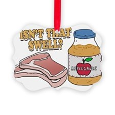 Pork chops apple sauce copy Ornament