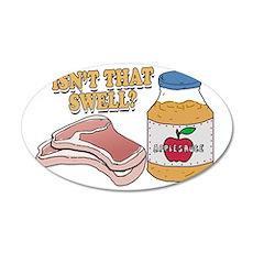 Pork chops apple sauce copy 35x21 Oval Wall Decal