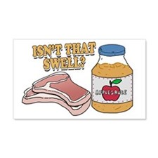 Pork chops apple sauce copy Wall Decal