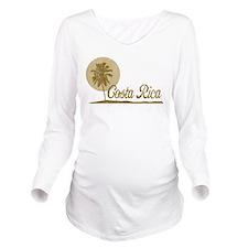Palm Tree Costa Rica Long Sleeve Maternity T-Shirt