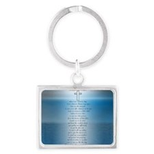 Firefighters.prayer.1.sticker Landscape Keychain