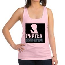 2-Prayer.square Racerback Tank Top
