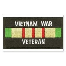 RVN War Veteran Rectangle Decal
