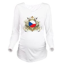 Stylish Czech Republic Long Sleeve Maternity T-Shi
