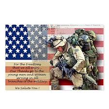 Patriotic_soldier 5 Postcards (Package of 8)