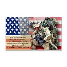 Patriotic_soldier 5 Rectangle Car Magnet