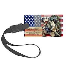 Patriotic_soldier 5 Luggage Tag