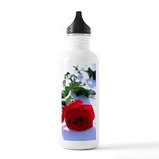 Rose in Snow Water Bottle