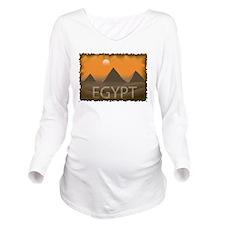 Vintage Egypt Long Sleeve Maternity T-Shirt