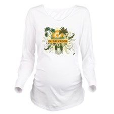 Palm Tree El Salvador Long Sleeve Maternity T-Shir